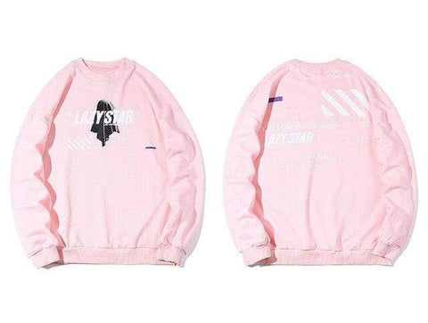 Special Hype LAZY STAR SWEATSHIRT Affordable Hype Clothing Brand Pink / L