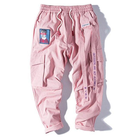 Special Hype NOT ALLOWED PANTS | 3 COLORS Affordable Hype Clothing Brand Pink / M
