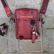 "Special Hype TDC MAROON SHOULDER BAG ""COBRA PLEASURE"" Affordable Hype Clothing Brand"