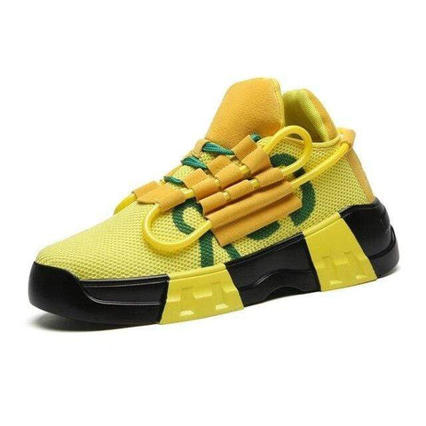 Special Hype SPIRAL SNEAKERS Affordable Hype Clothing Brand Yellow / 38