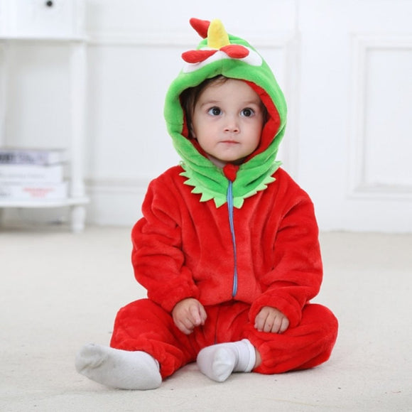 Red Chick Rooster Baby Romper