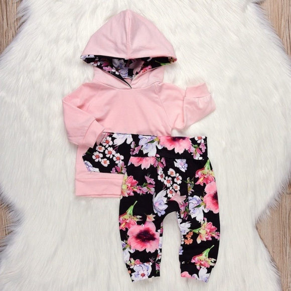 Pretty Pink Flower Themed Baby Outfit