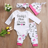 White Bohemian Daddy's Other Chick Baby Outfit