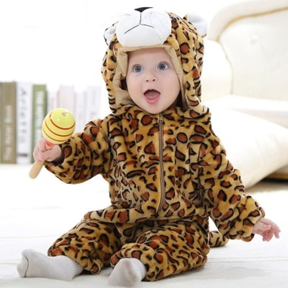 Leopard Baby Romper for Winter