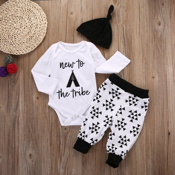 New To The Tribe Baby Outfit