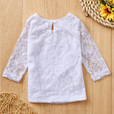 Stylish White Flower Lace Baby Outfit