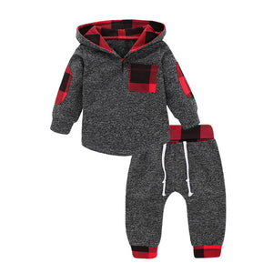 Black Red Buffalo Plaid Baby Outfit
