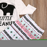 Teal Pink Bohemian Little Peanut Elephant Baby Outfit