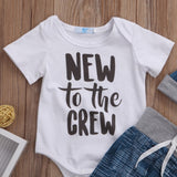 Modern New To The Crew Baby Outfit