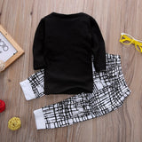White Black Wild Boy Baby Outfit