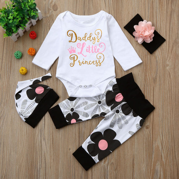 Flower Daddys Little Princess Baby Outfit