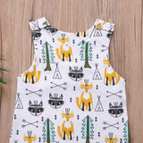 Woods Cute Fox Themed Baby Romper