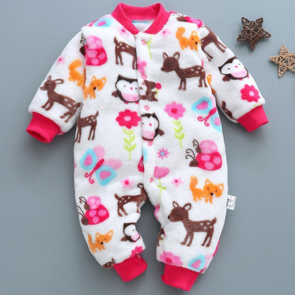 Colorful Forest Friends Baby Romper