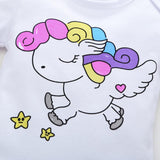 White Magical Unicorn Themed Baby Outfit
