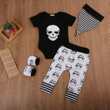 Black White Bad Skull Baby Outfit