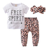 Indie Pink Leopard Free Spirit Baby Outfit