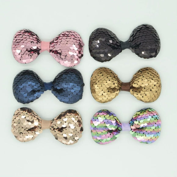 Colorful Sequin Baby Bows