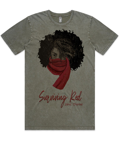 Surviving Red T-Shirt by Janà Chantel