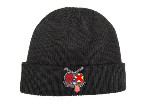 Fly Patch Beanie Black