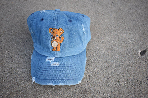 Fxvk It Bear Denim Dad Hat