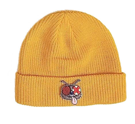 Fly Patch Beanie Gold
