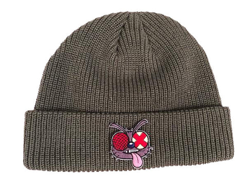 Fly Patch Beanie Grey