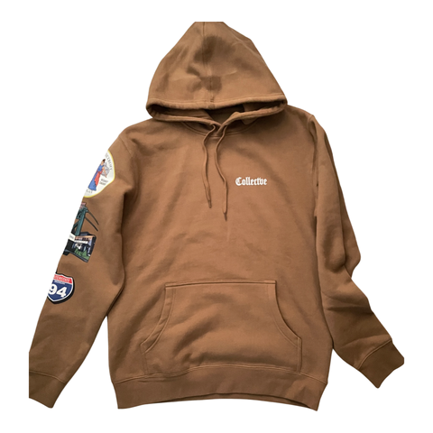 Old English Hoodie Camel