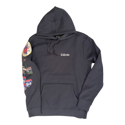Old English Hoodie Petrol Blue