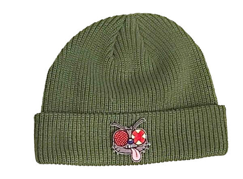 Fly Patch Beanie Olive