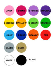 Colour Chart. easy Decals Vinyl products.
