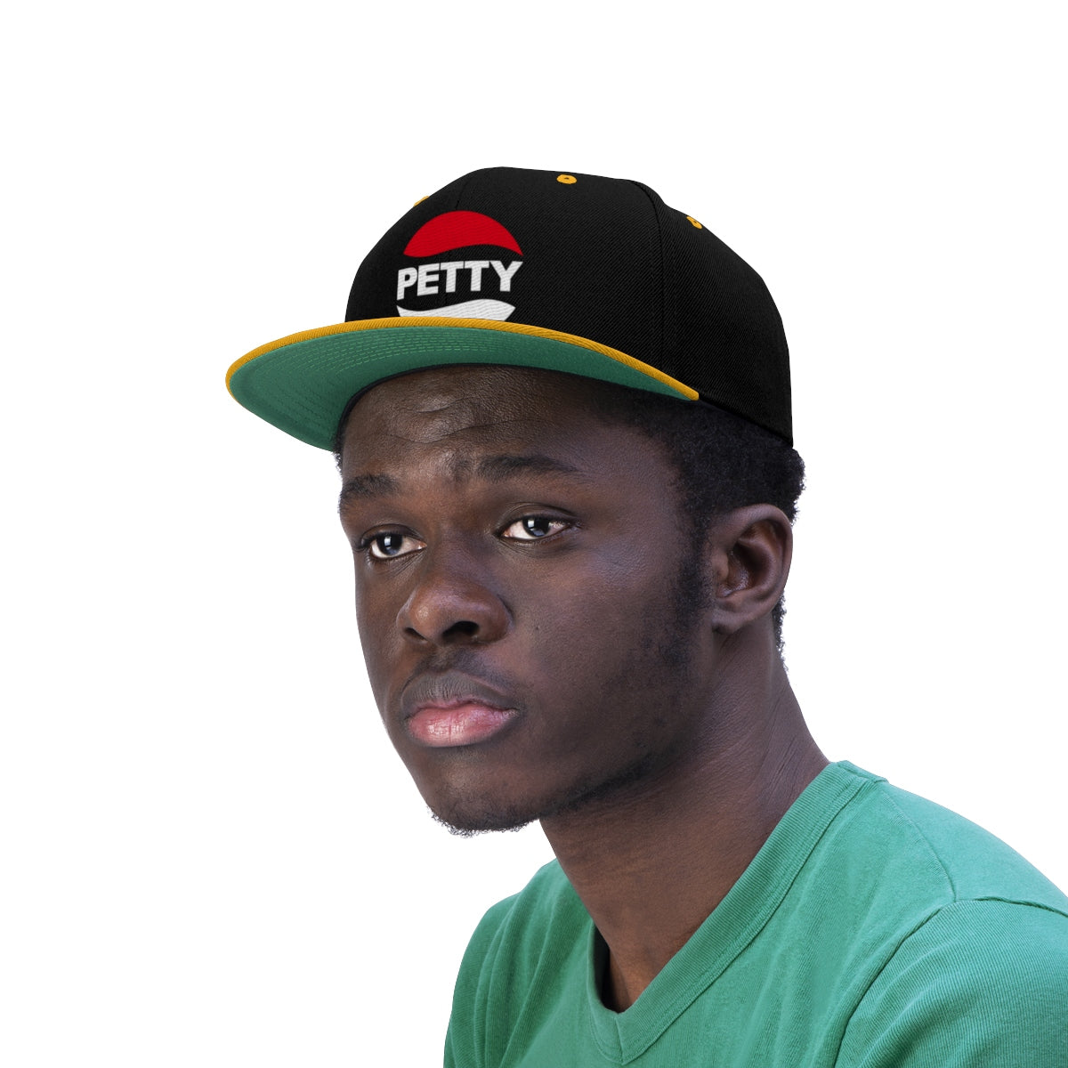 Petty Logo Unisex Flat Bill Hat-Hats-Good Vibrations Clothing Company