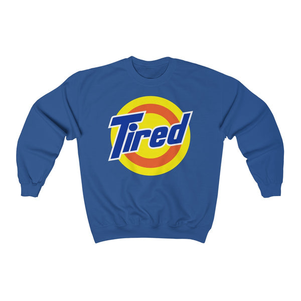 Tired Unisex Heavy Blend™ Crewneck Sweatshirt-Sweatshirt-Good Vibrations Clothing Company