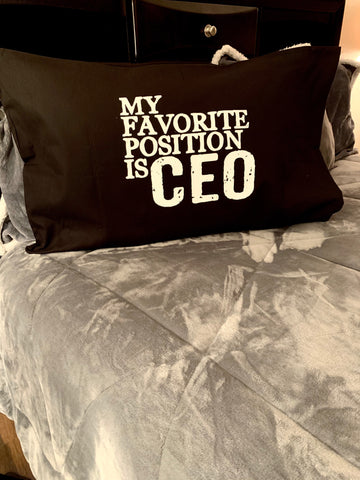"""CEO"" Pillow Cover"