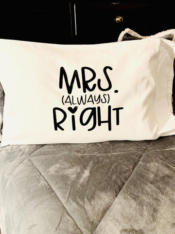 """Mrs, (Always) Right"