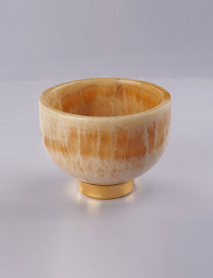 Beige Onyx Marble Serving Bowl