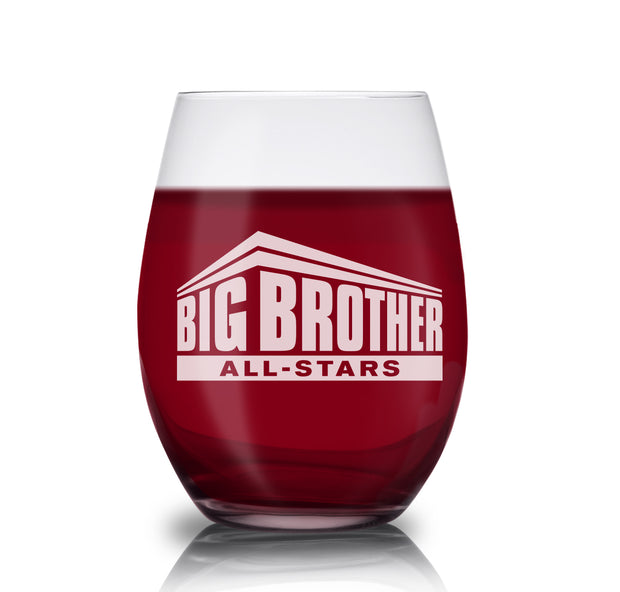 Big Brother All-Stars Logo Laser Engraved Stemless Wine Glass | Official CBS Entertainment Store