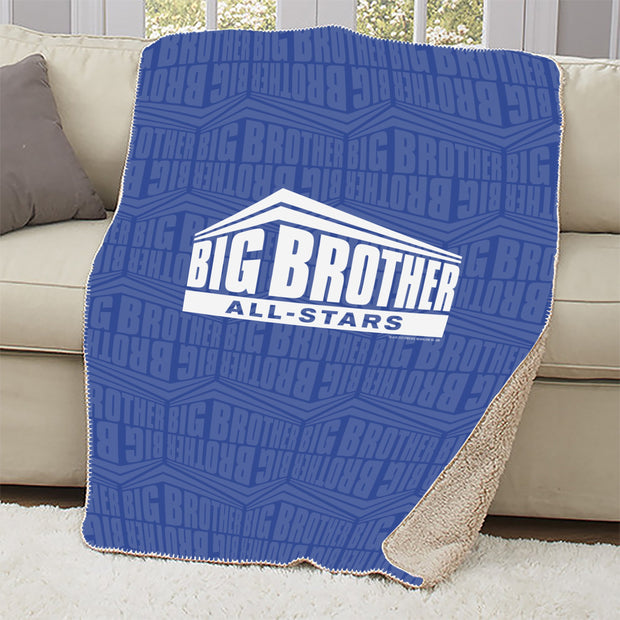 Big Brother All-Stars Logo Pattern Sherpa Blanket | Official CBS Entertainment Store