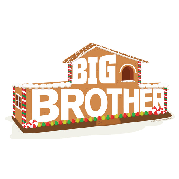 "Big Brother Gingerbread House Logo Throw Pillow - 16"" x 16"" 