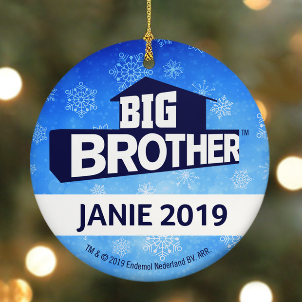 Big Brother Personalized Logo Double Sided Ornament | Official CBS Entertainment Store