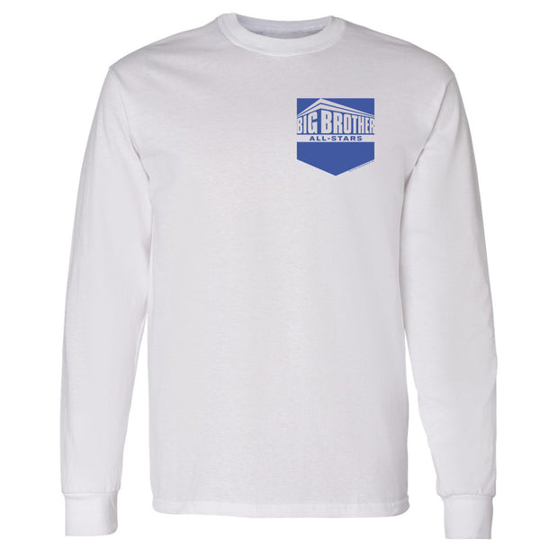 Big Brother All Stars Pocket Logo Adult Long Sleeve T-Shirt | Official CBS Entertainment Store