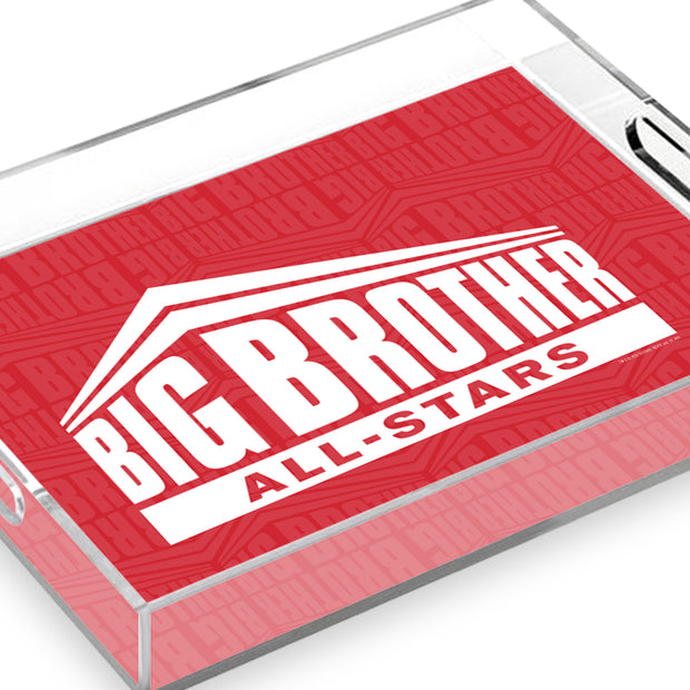 Big Brother All-Stars Logo Pattern Acrylic Tray | Official CBS Entertainment Store