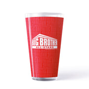 Big Brother All Stars Logo Pattern 17 oz Pint Glass | Official CBS Entertainment Store