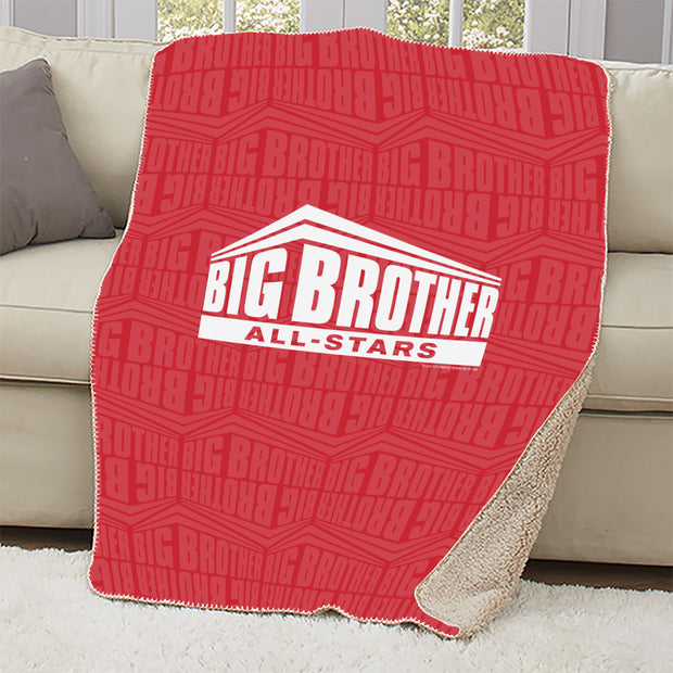 Big Brother All Stars Logo Pattern Sherpa Blanket | Official CBS Entertainment Store