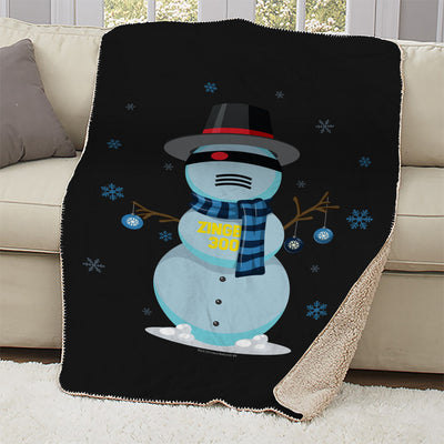 Big Brother Snowbot 3000 Sherpa Blanket | Official CBS Entertainment Store