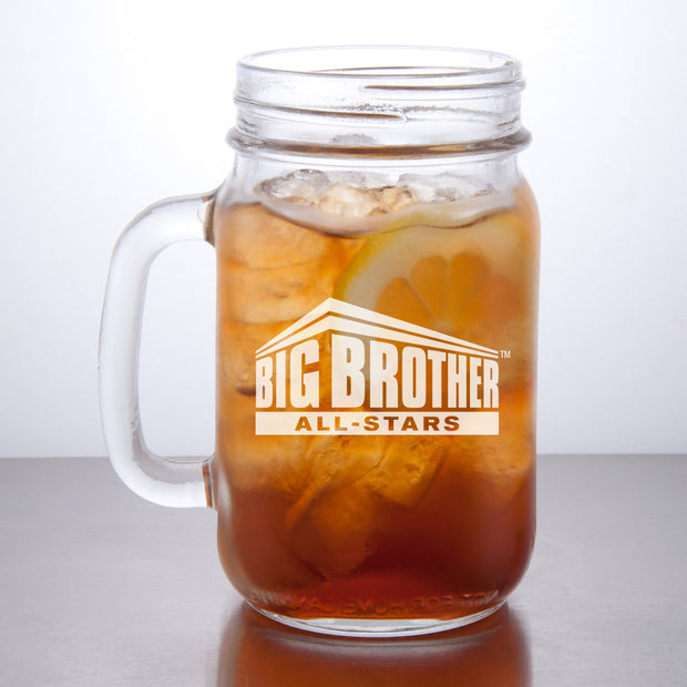 Big Brother All Stars Logo Personalized Laser Engraved Mason Jar | Official CBS Entertainment Store