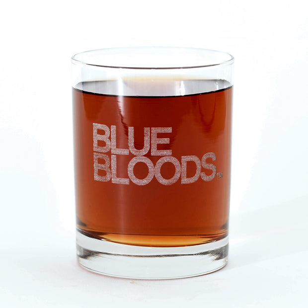Blue Bloods Logo Laser Engraved Rocks Glass | Official CBS Entertainment Store