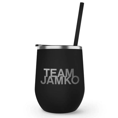 Blue Bloods Team Jamko 12 oz Stainless Steel Wine Tumbler with Straw