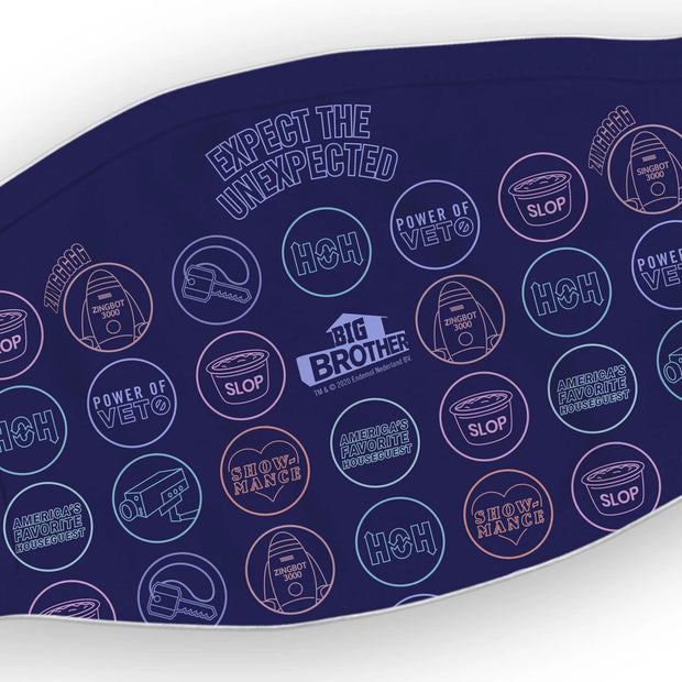 Big Brother Logo Mash Up Washable Face Mask | Official CBS Entertainment Store