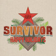 Survivor Happy Holidays Canvas Tote Bag | Official CBS Entertainment Store