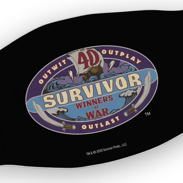Survivor Season 40 Winners at War Logo Washable Face Mask | Official CBS Entertainment Store